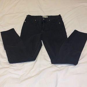 Madewell High Riser Skinny Jeans - Black 28